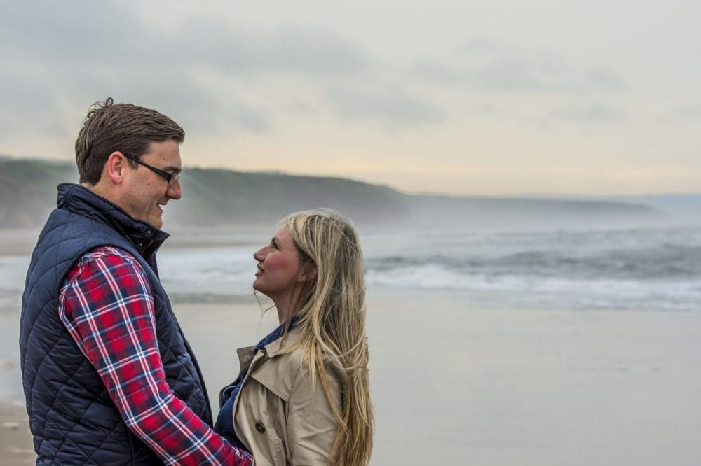 Crimdon Beach Pre Wedding Shoot | Naomi & Dave | A foggy dull day but really made for some fantastic shots. Loved crimdon beach
