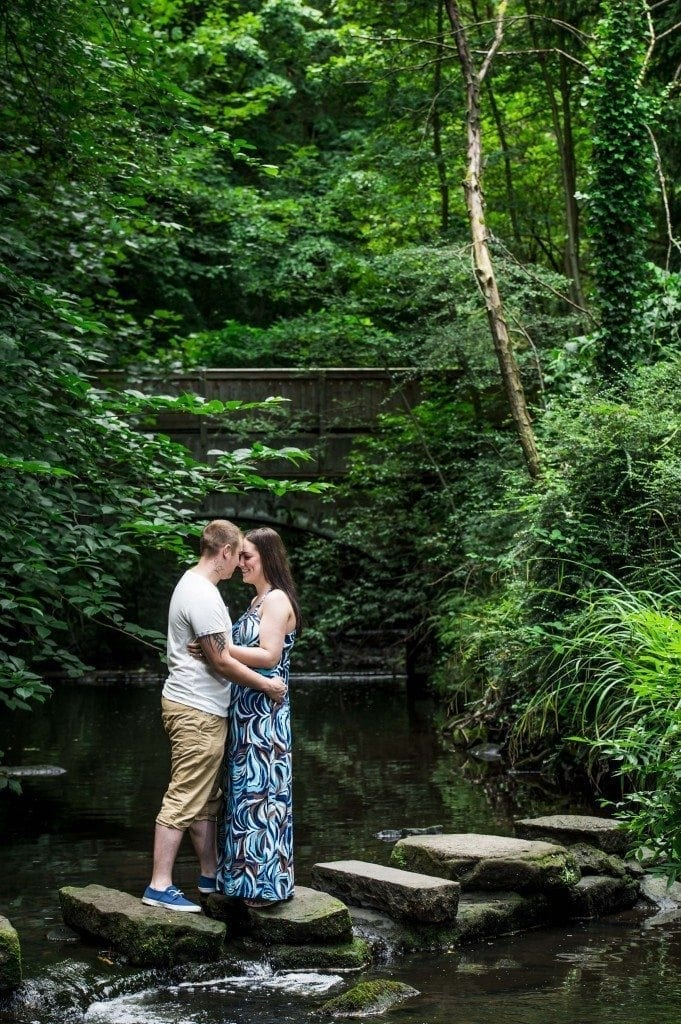 Jesmond Dene Pre Wedding Photography for the pre wedding shoot of Rebecca & Keith soon to be wed at Washington Old Hall Photography, by Durham Wedding Photographer