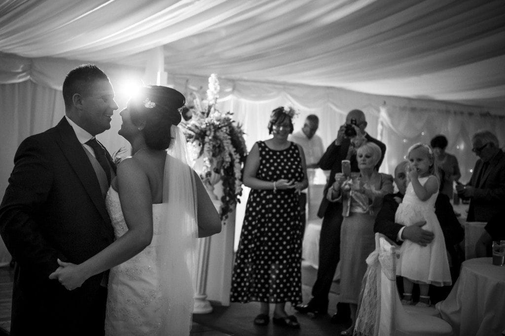 almost a kiss between vicky & martin at the start of their first dance together as husband and wife