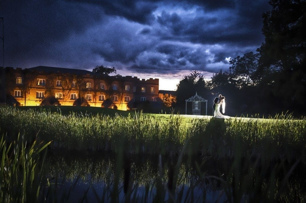 Stormy sky at the end of Vicky & martins ramside hall hotel