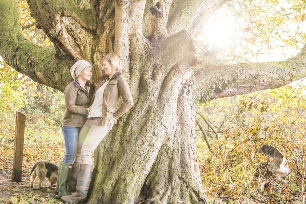 Hawthorn Dene Pre Wedding Photography with Rachel and Emma. Durham wedding photography by Leighton Bainbridge. A gorgeous Autumn pre wedding photography in Durham