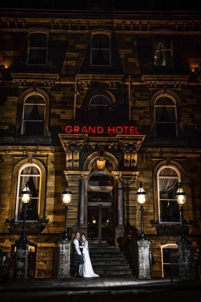 A stunning wedding at The Grand Hotel Tynemouth, photographed by Newcastle wedding photographer Leighton Bainbridge for the marriage of Deby & Gary at the grand hotel wedding