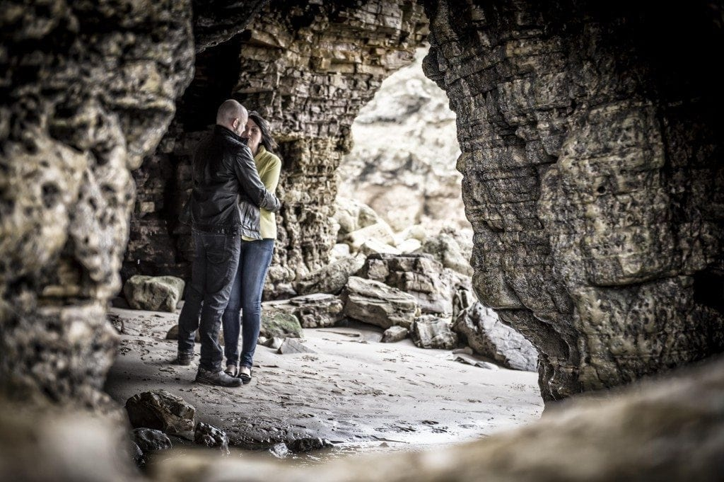 Sunderland wedding photographer, Leighton Bainbridge was at Marsden Grotto pre wedding photography with the wonderful Julie & Richi