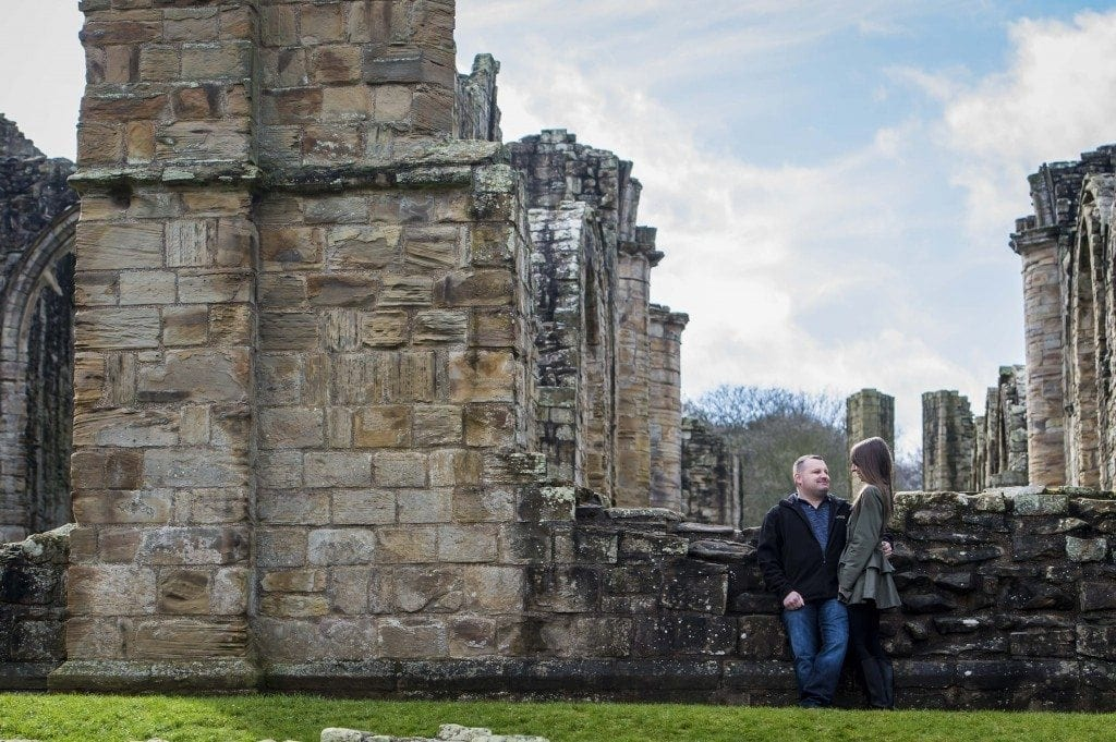 finchale abbey pre wedding photography | Dawn & Trevor_1