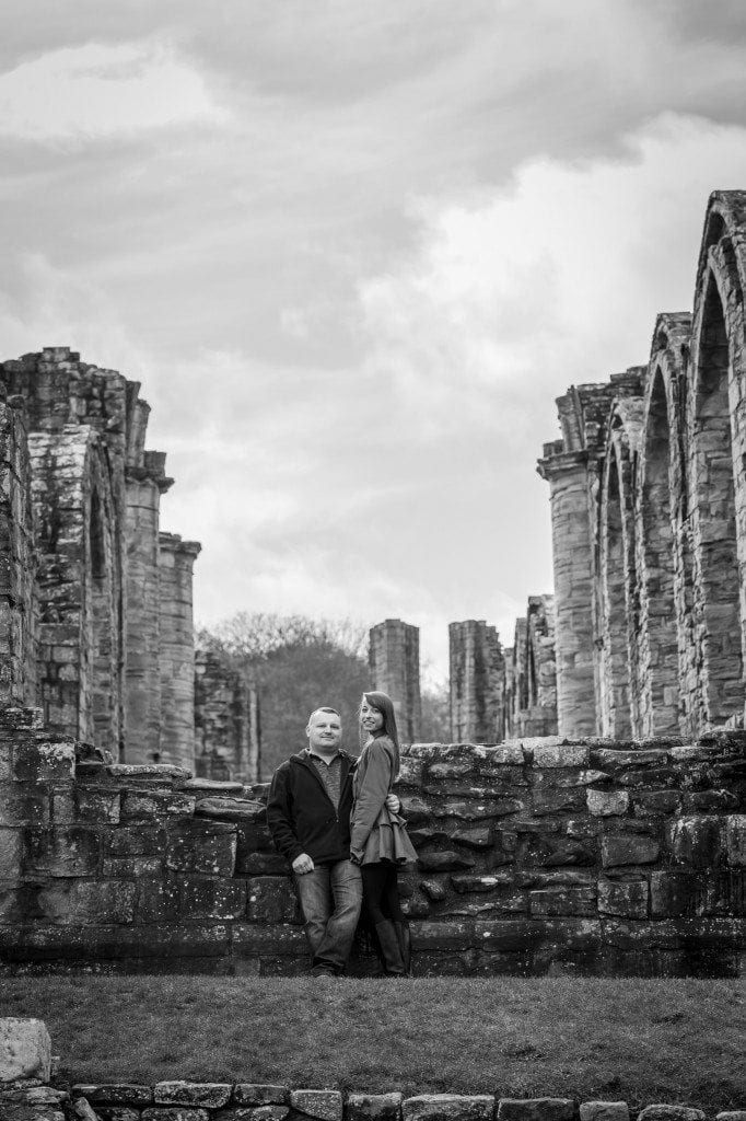 finchale abbey pre wedding photography | Dawn & Trevor_2