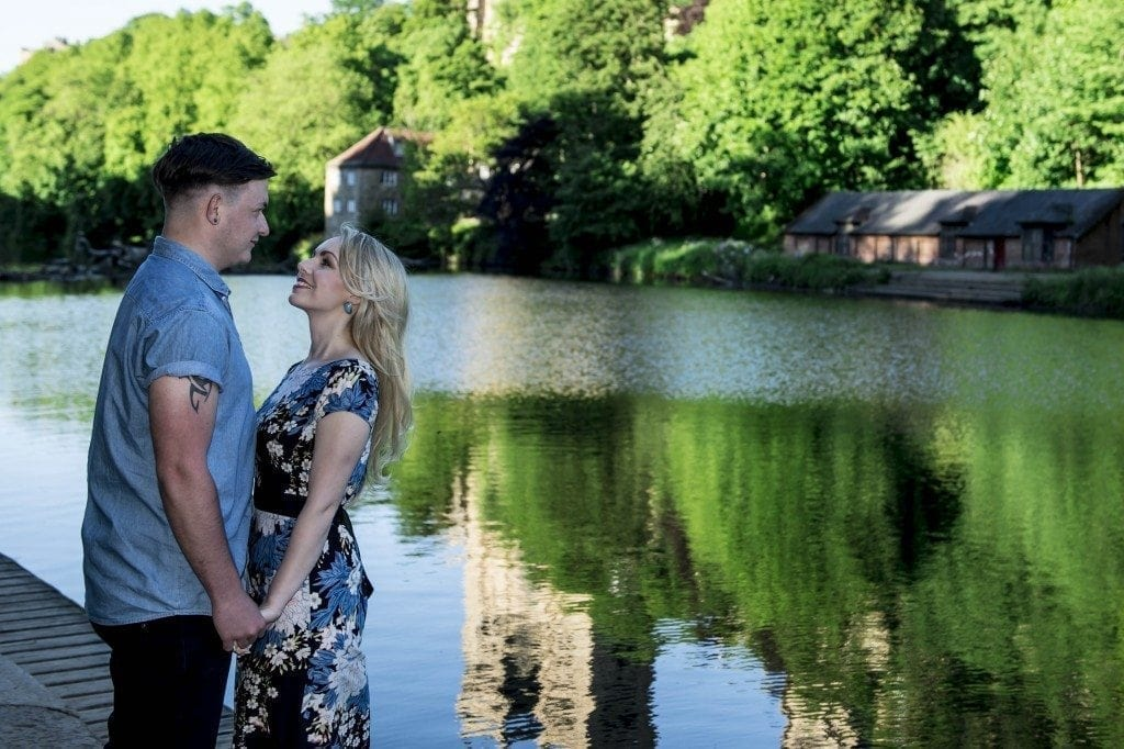 A great photo shoot in Durham, with Lee-anne a Loui for their Durham pre wedding photography. it was a gorgeous nigh with durham photographer Leighton Bainbridge