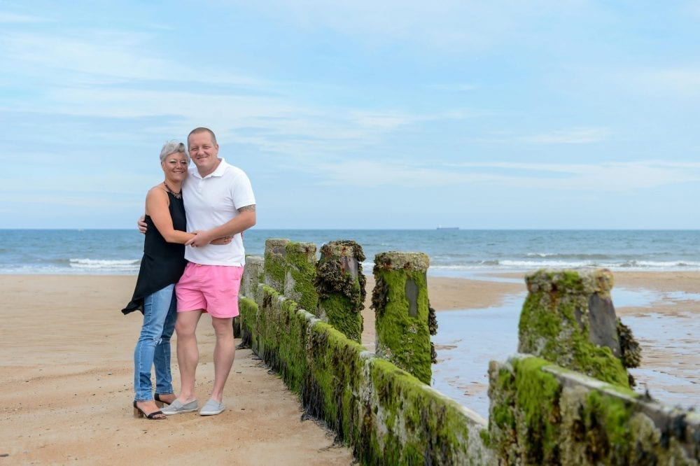 A gorgeous pre wedding shoot at Blyth Beach getting ready for sarah & scott's big day at jesmond dene wedding