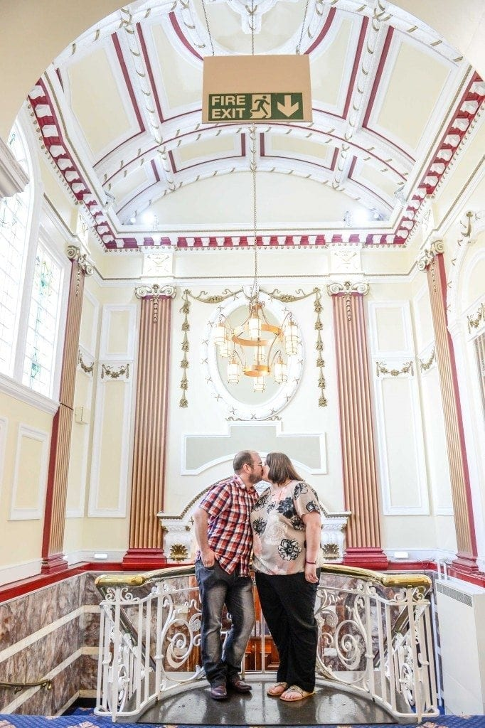 an awesome pre wedding at Sunderland Empire Theatre with Richard and Emma. Photography by Tyne And Wear wedding Photographer Leighton Bainbridge what a great photography shoot.
