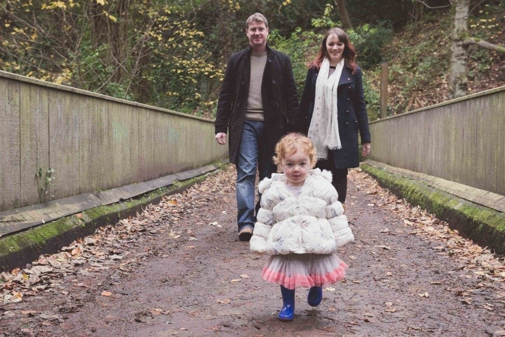 a gorgeous pre wedding shoot in Jesmond dene with fay, Andy and the cute little Lily photographed by newcastle wedding photographer Leighton Bainbridgea gorgeous pre wedding shoot in Jesmond dene with fay, Andy and the cute little Lily photographed by newcastle wedding photographer Leighton Bainbridge