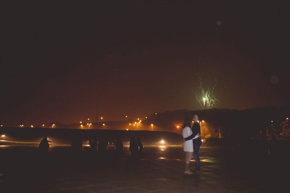 A Great Pre Wedding Shoot In South Shields On Bonfire Night With Mark Sarah