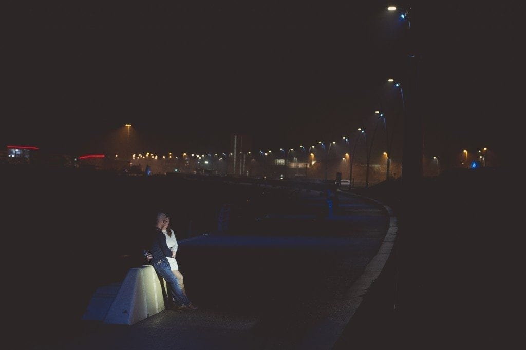 A great pre wedding shoot in south shields on bonfire night with Mark & Sarah, newcastle wedding photographer Leighton Bainbridge taking the photos