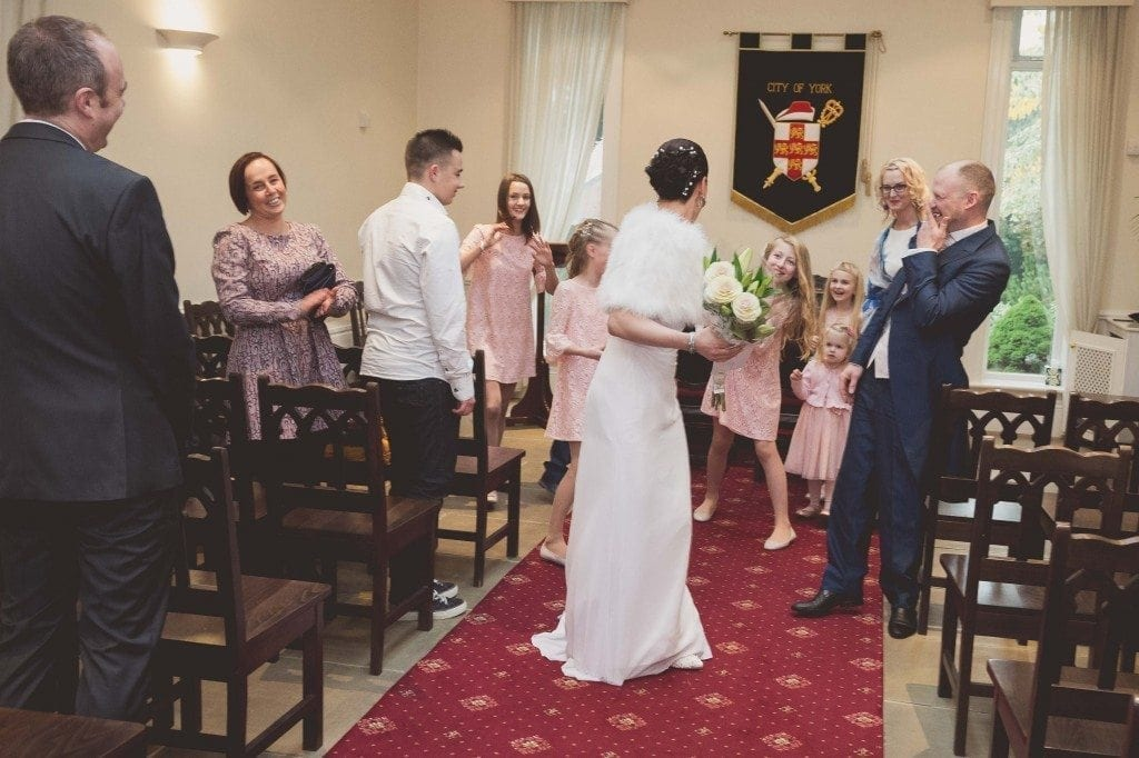 A gorgeous wedding at York registry office for the wedding of Ilze & Riavis photographed by York wedding photographer Leighton Bainbridge