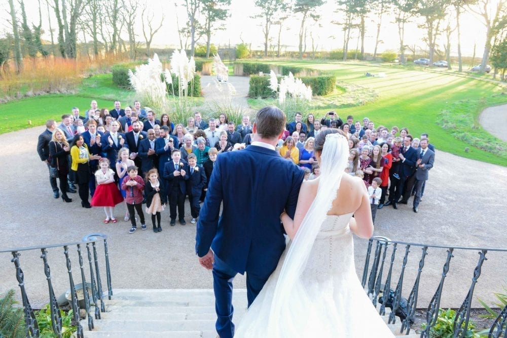 A gorgeous Newton Hall Wedding photography. with Fay looking lovely on her wedding day and andy looking daper. A beautiful Newcastle wedding, photographer was Leighton bainbridge