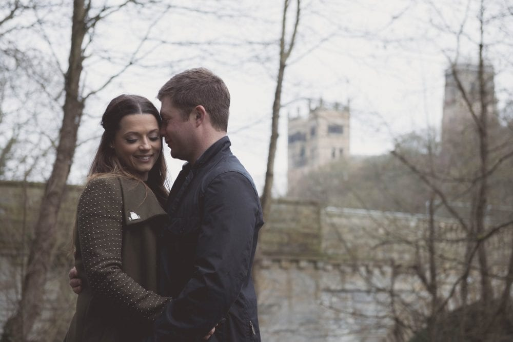 a gorgeous pre wedding shoot in durham city with Alex & Gary