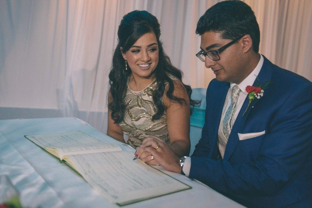 asian wedding photography Newcastle with the very gorgeous Sai & Rishi for their english ceremony at Gosforth Marriott hotel.