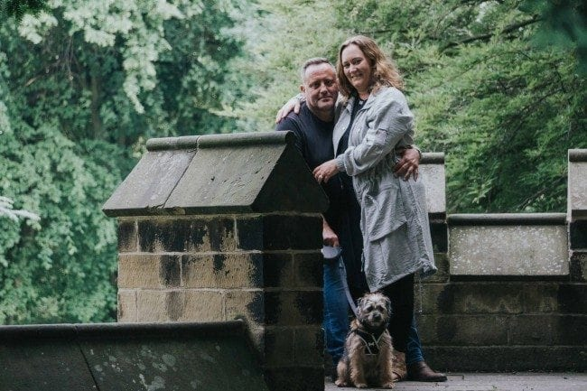 a beautiful pre wedding shoot in saltwell park with christine, Chris and pebbles
