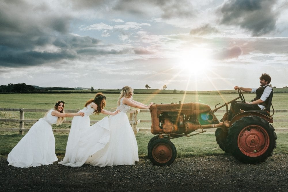 #Northside Farm wedding photography with Leighton Bainbridge for a belta of a double wedding with Lucy & Ben, Amy & Vicky