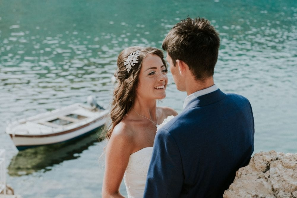 International wedding photographer is in Lindos, greece for Louise & Ryan's magical wedding in the sun