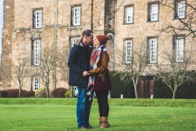 Lumley Castle for a lovely pre wedding shoot with Jane and Chris