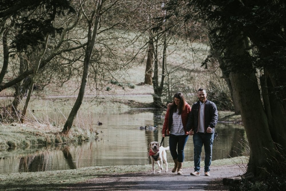 an awesome pre wedding photography in Hardwick park with Claire and Andy, with durham wedding photographer Leighton Bainbridge