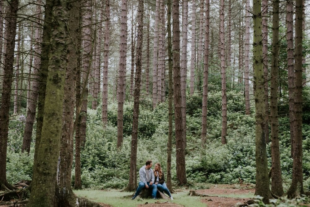 A lovely pre wedding photo shoot in chopwell woods with the lovely Jade & Nick