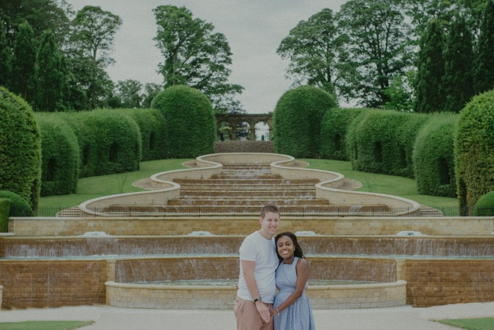 a stunning pre wedding photography in Alnwick Gardens with Loriea & Peter. photographed by Newcastle wedding photographer, Leighton Bainbridge