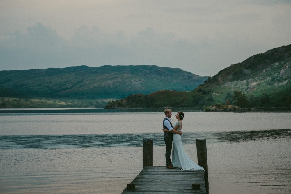 inn on the lake wedding, Glenridding. for the beautiful elopement wedding photography of Rebecca & Andrew