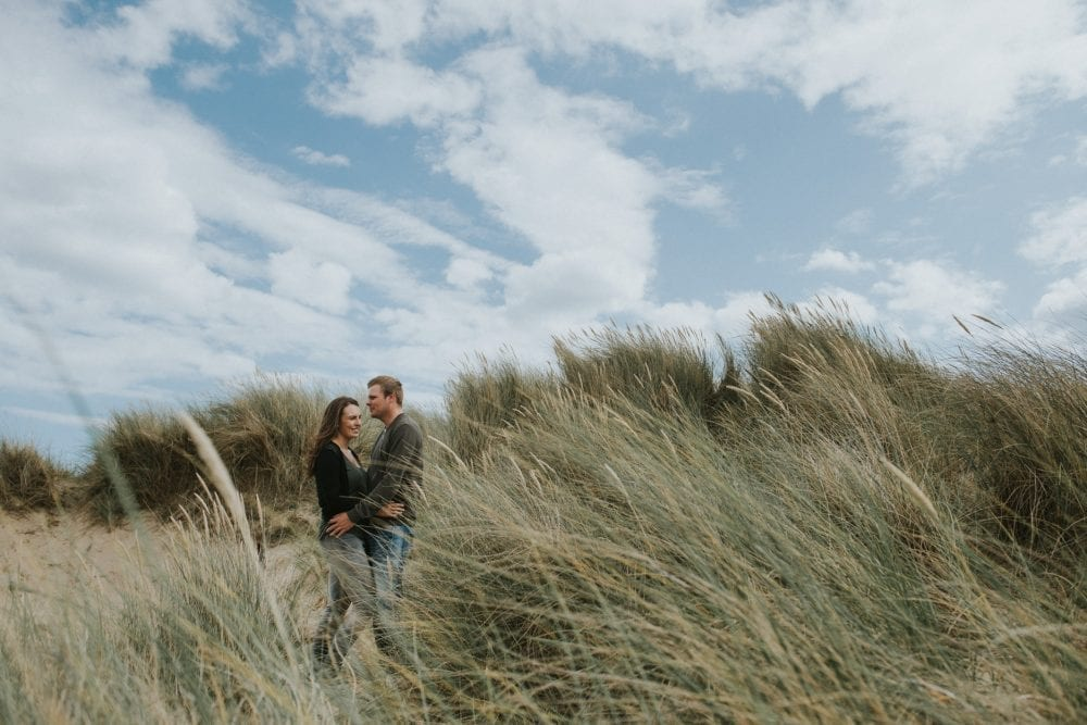 An excellent pre wedding photography at Druridge bay with the awesome Laura & Rob. Photographed by Northumberland wedding photographer Leighton Bainbridge