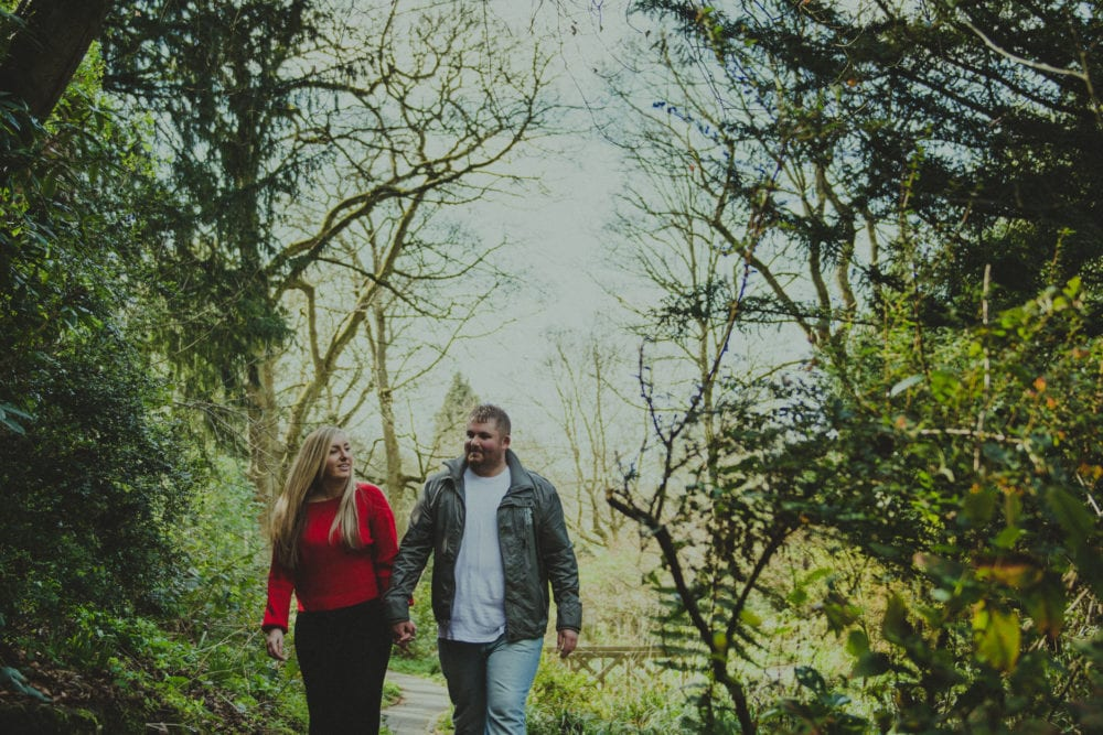 A gorgeous pre wedding photography at Saltwell Park with Lauren & Gary photographed by Newcastle wedding photographer Leighton Bainbridge