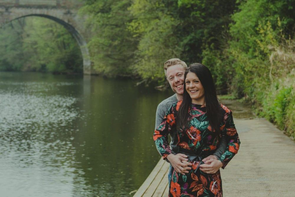 Giorgio & Simona photographing in Durham City for the Pre wedding photography with north east photographer, Leighton Bainbridge