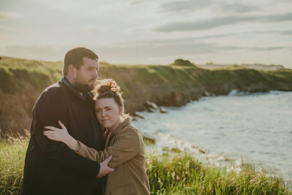a beautiful pre wedding at St Mary's Lighthouse with Kate & Dan
