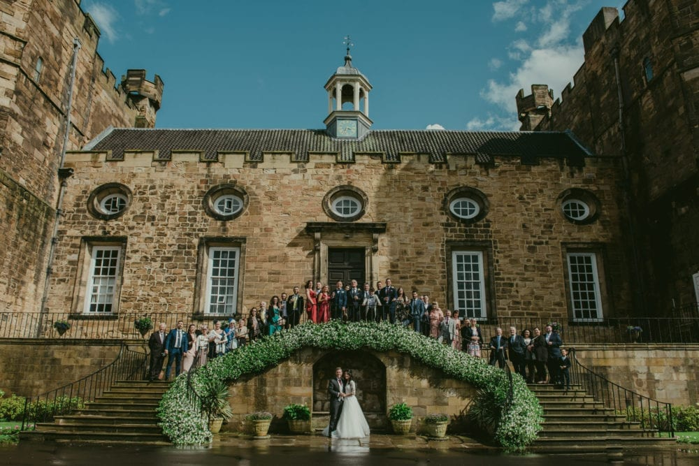A beautiful Lumley Castle wedding photography with Giorgio & Simona