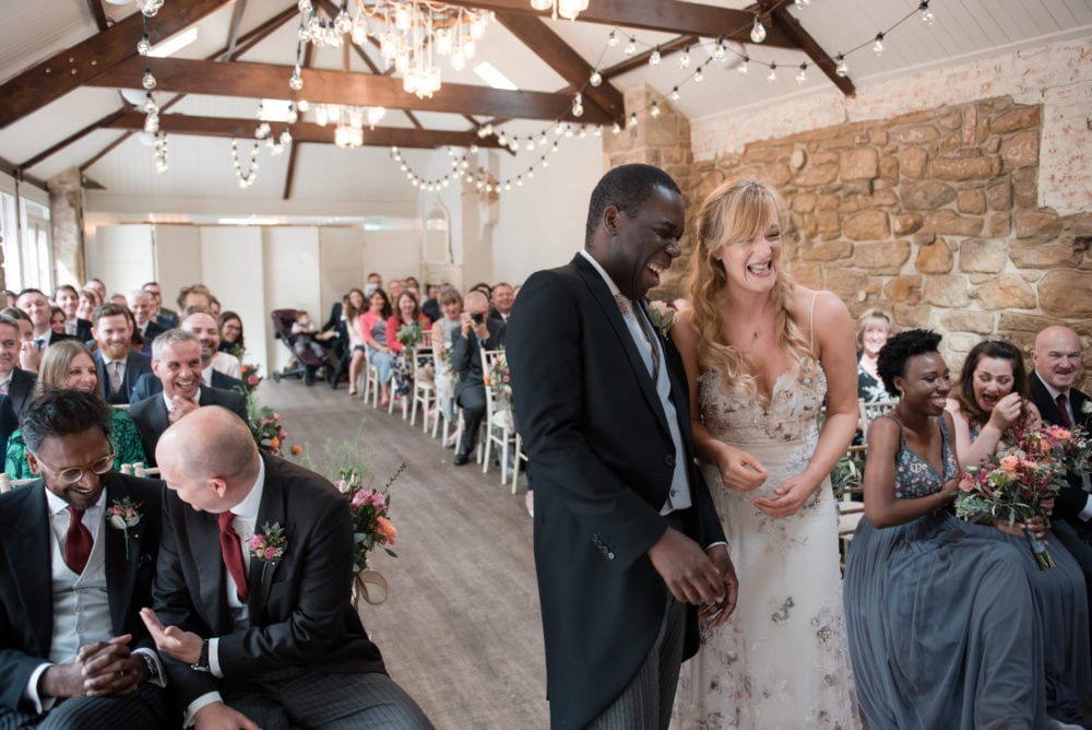 Lynne & Des tying the knot with Shotton Grange Weddings