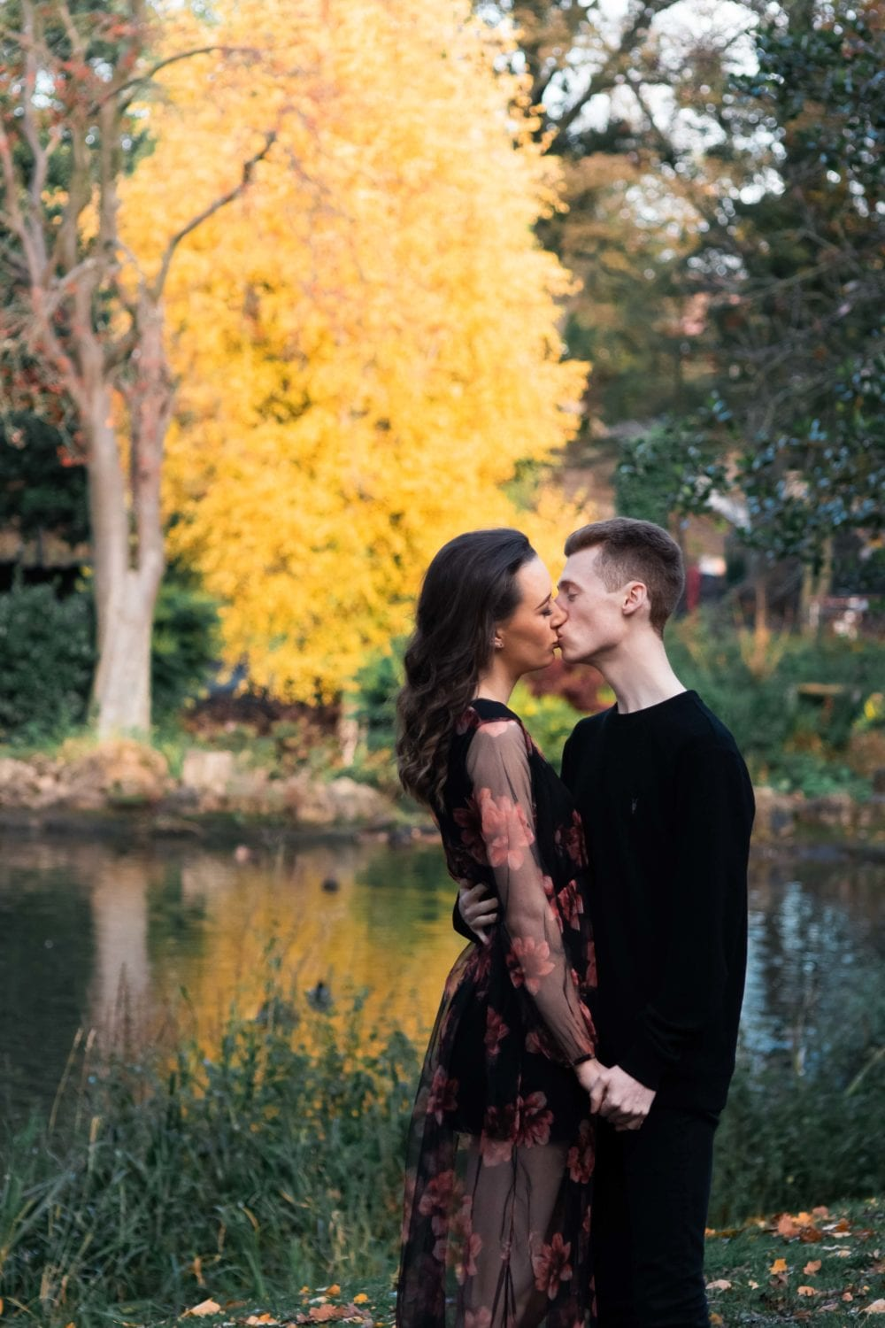 A gorgeous engagement photography shoot with Nicole & Thomas at Barnes Park. After Thomas popping the question to Nicola with Beauty and the Beast themed rose and glass box, they thought it would be good to do a photoshoot in Barnes park but first in their estate and at home to help share the story, with a quick wardrobe change before heading to the park. It was a gorgeous autumn afternoon with some great light peeking through the trees. It was also made easier with Nicola & Thomas been so comfortable with each other making for some great pre wedding photography in Sunderland, Barnes Park.