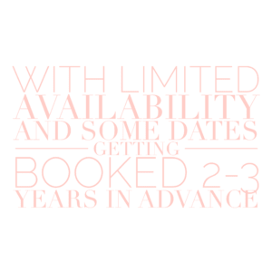 limited availability for wedding photography
