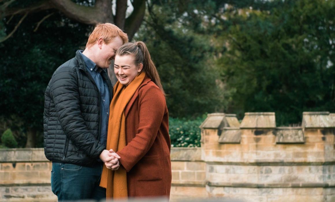 saltwell park pre wedding with Niall & Helen