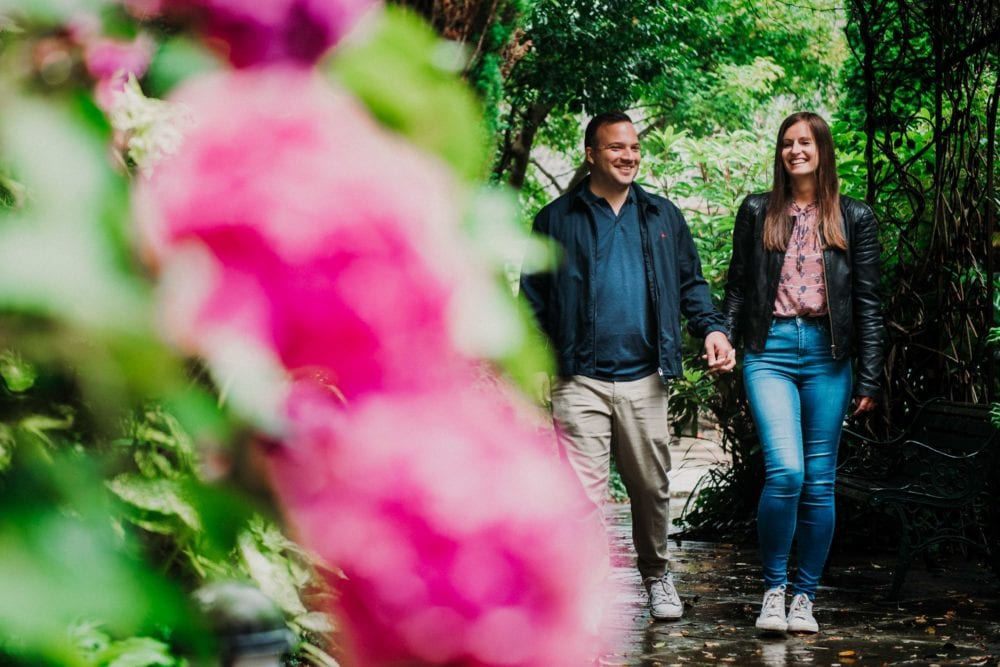 Lumley Castle Pre Wedding photography with Lisa & Luca