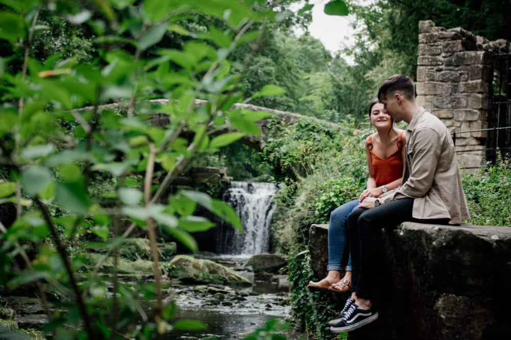 A stunning visit to Jesmond Dene for a pre wedding photography with Rebecca & Liam