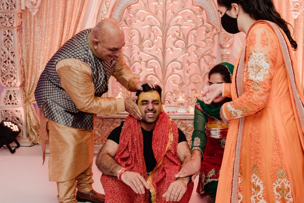 Ajay's santh ready for hindu wedding