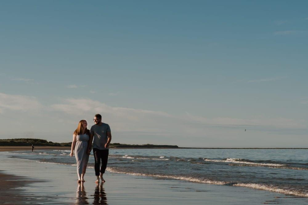 Druridge Bay Pre wedding shoot with Bethany & Kyle