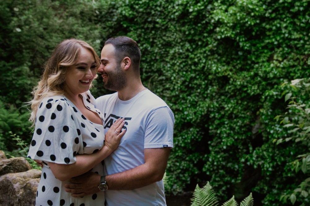 Jesmond Dene pre wedding photography with Danielle & Chris
