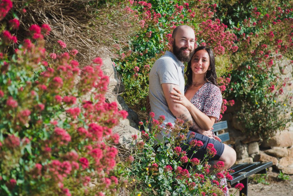 stunning pre wedding photography at Tynemouth beach front with Tara & James