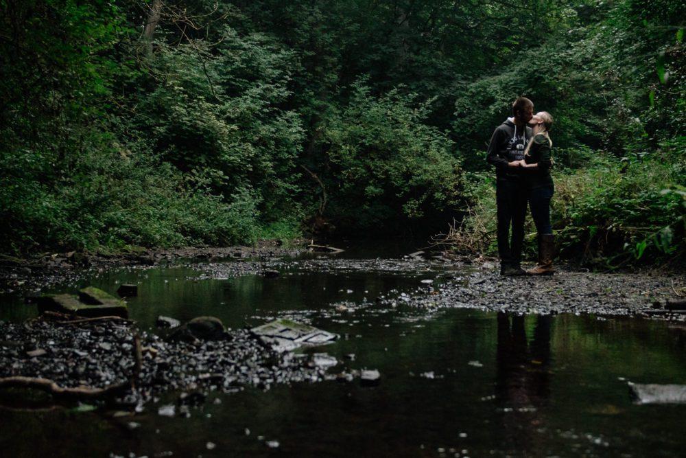 an awesome Hollywell dene pre wedding shoot with Sarah & Vadim