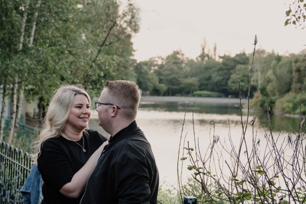 A gorgeous pre wedding shoot in Saltwell Park with Antonia & Sean-Paul
