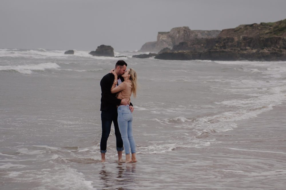 pre wedding shoot at South Shields Beach front with Katie & Adam